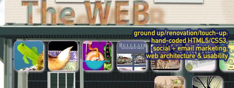 ground up/renovation/touch-up: hand-coded html5/css3/jQuery, flash, email marketing, web architecture and usability